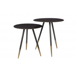 Lot de 2 tables basses Stalwart Noir et Or - Dutchbone