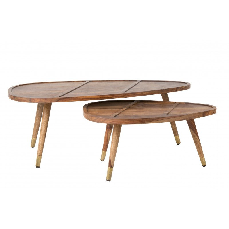 Table Basse Gignone Sham En Bois De Sheesham Solide Et Beau à La Fois