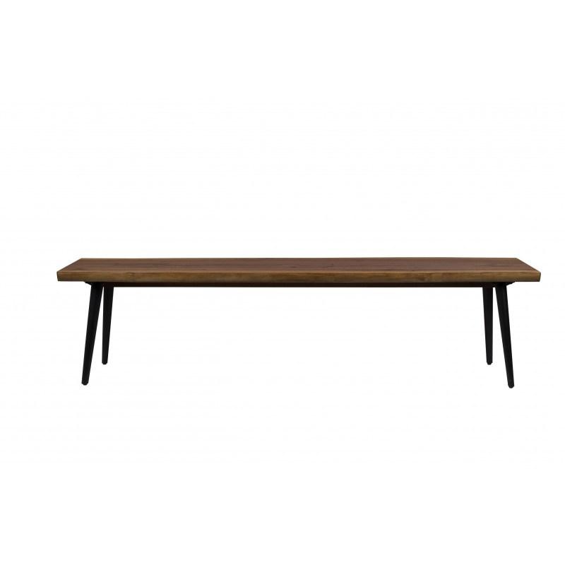 Banc en bois et métal Alagon industriel 180x40 cm - Dutchbone