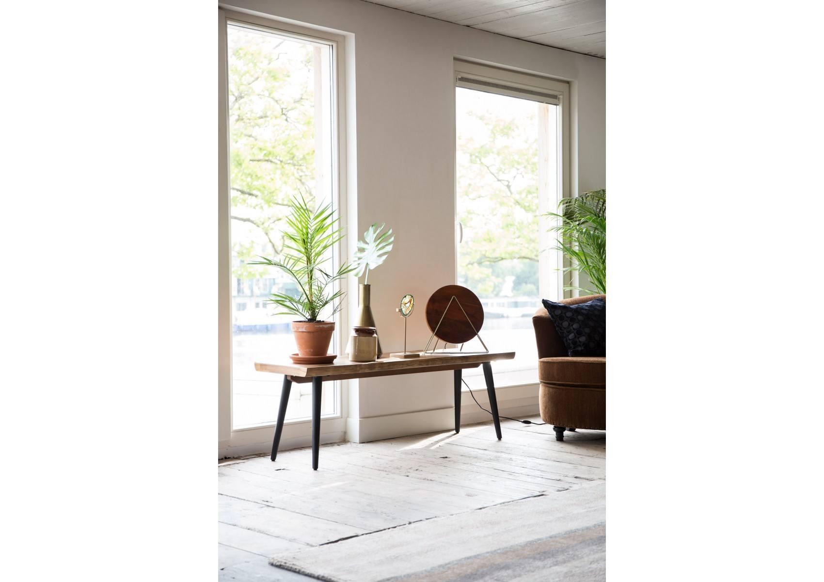 banc en bois et m tal alagon industriel 160x40 cm dutchbone. Black Bedroom Furniture Sets. Home Design Ideas