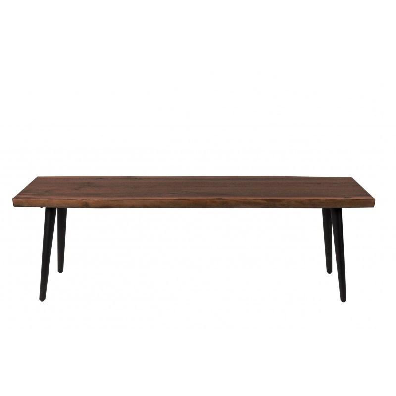 Banc en bois et métal Alagon industriel 140x40 cm - Dutchbone