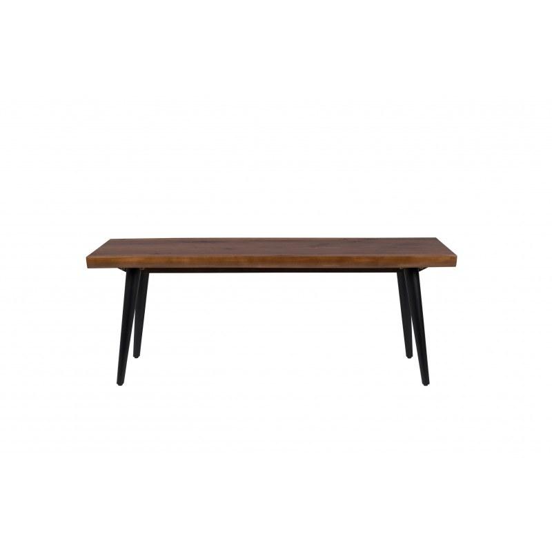 Banc en bois et métal Alagon industriel 120x40 cm - Dutchbone