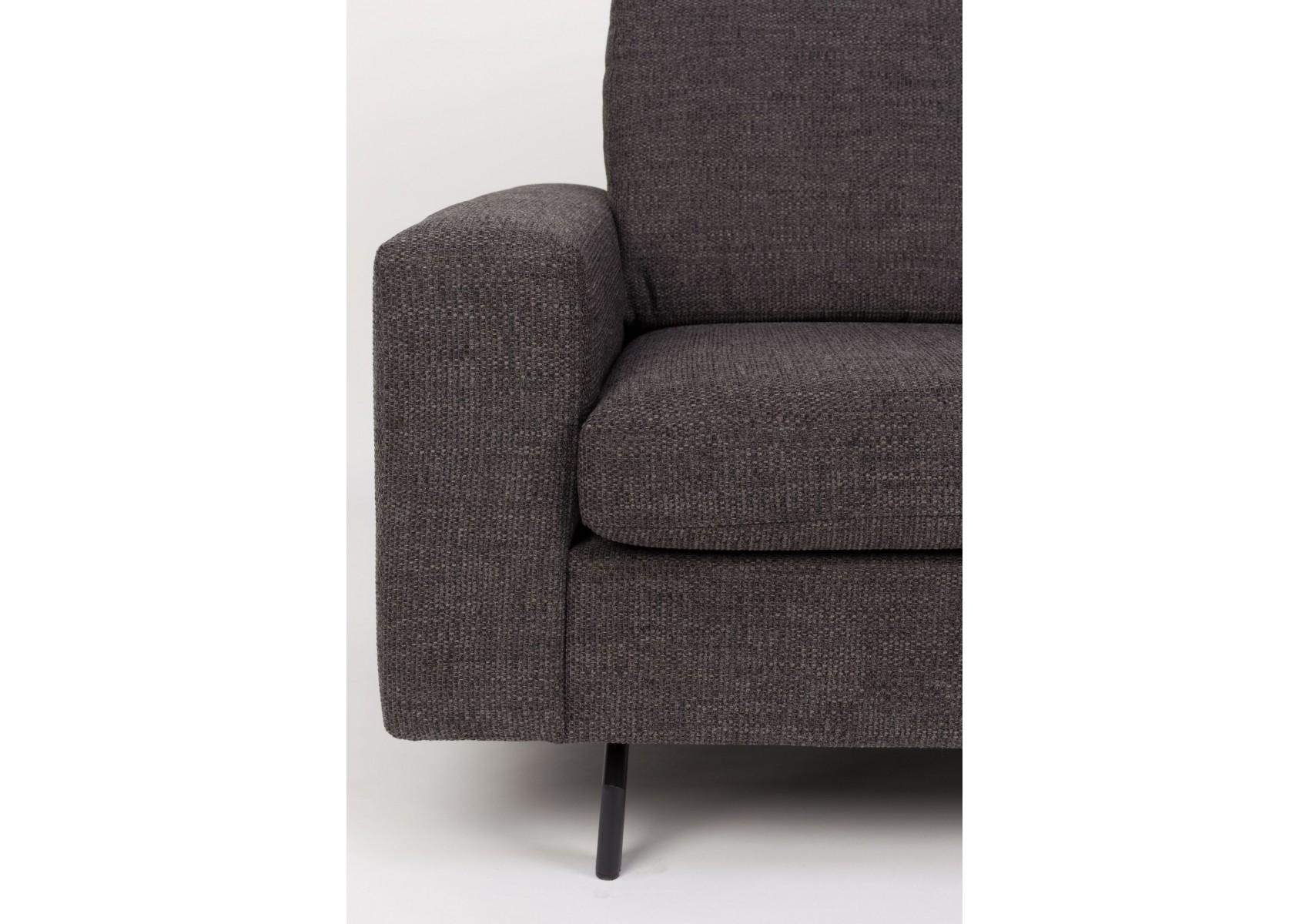 canap design anthracite de la collection jean de chez zuiver. Black Bedroom Furniture Sets. Home Design Ideas