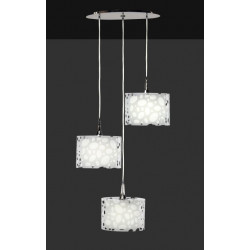 Suspensions Moon 3L spirale blanche design Mantra