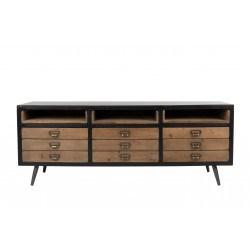 Buffet vintage Sol en bois et métal - Dutchbone