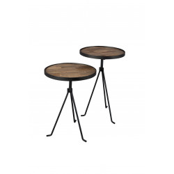 Set de deux tables d'appoint industrielles Tides Dutchbone