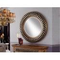 Miroir original design - ROND AJOURE ARGENT ET OR - deco schuller