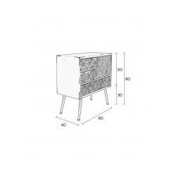 Petit buffet style industriel Chip - Boite à design