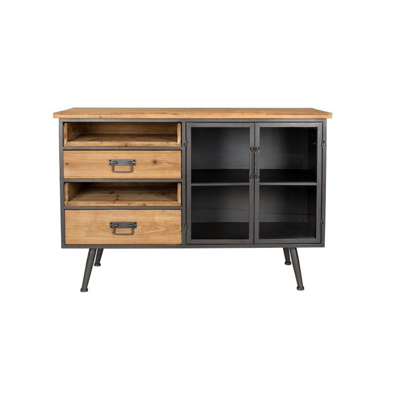 Petit buffet style industriel bois et métal Diaman - Boite à design