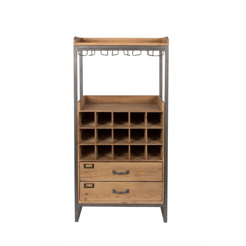 meuble bar vin en bois et m tal edgar boite design. Black Bedroom Furniture Sets. Home Design Ideas