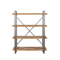 Étagère industrielle bois et métal Joy - Boite à design