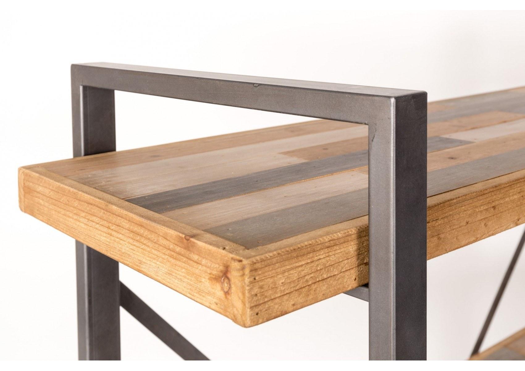 etagere industrielle bois metal hollandschewind. Black Bedroom Furniture Sets. Home Design Ideas