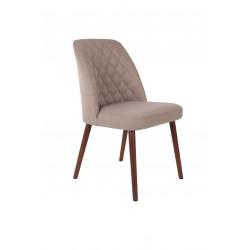 Chaise tissu diamant matelassé Conway - Boite à design
