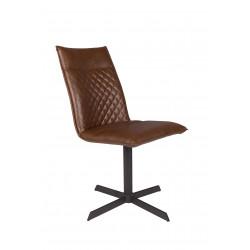 Chaise en simili cuir matelassé Ivar - Boite à design