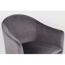 Fauteuil en tissu velours Catelyn - Boite à design