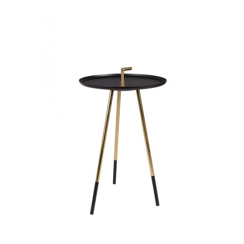 Table d'appoint métal et laiton Rumbi - Boite à design