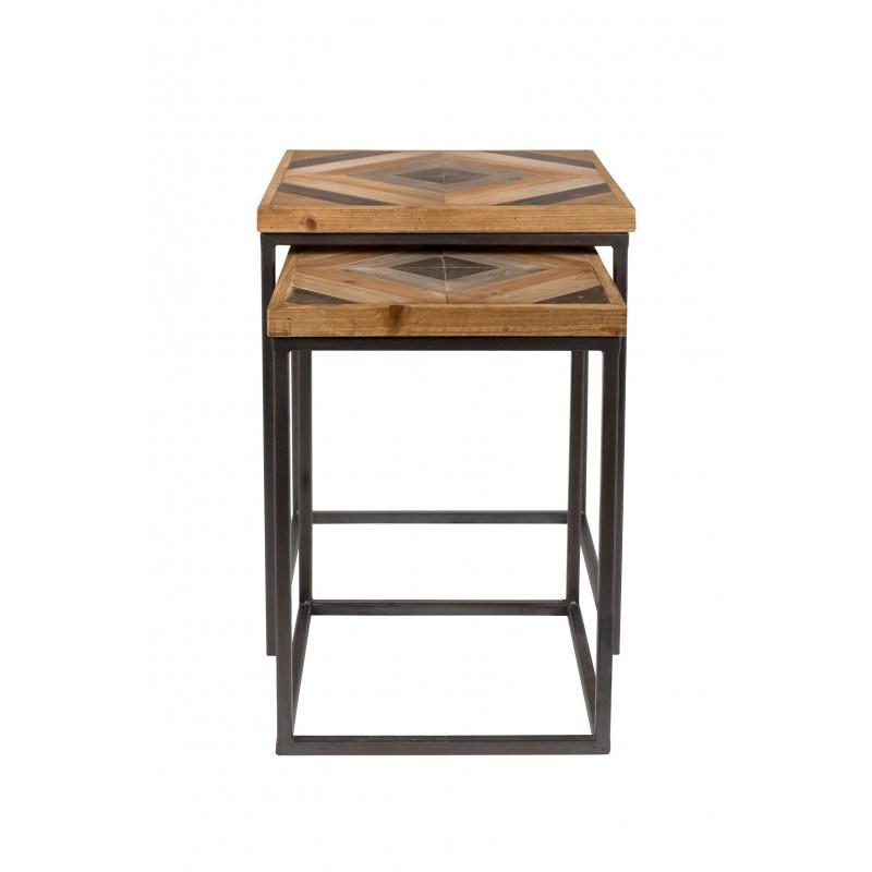 Basse Industrielle Design Table Joy Bois Gigogne Boite Métal À Et qzpUVGSML