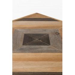 Tables basses gigognes industrielles bois et métal Joy - Set de  2 - Boite à design