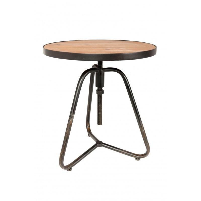 Table d'appoint industrielle bois et metal Denzel - Boite à design