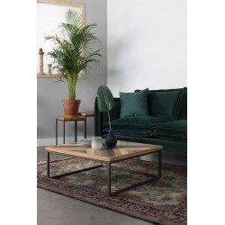 Table basse carrée bois et metal style industriel Joy - Boite à design