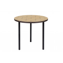 Table d'appoint avec motifs géométriques