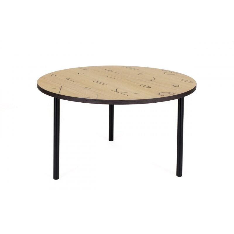 Table basse Arty motif lettre en 70 cm