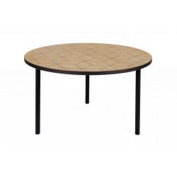 Table basse avec motifs géométriques Arty 70 cm - Woodman