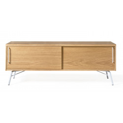 Meuble TV en boi naturel Ashburn style scandinave - woodman