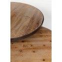 Tables basses rondes gigognes industrielles bois et métal Jack - Boite à design