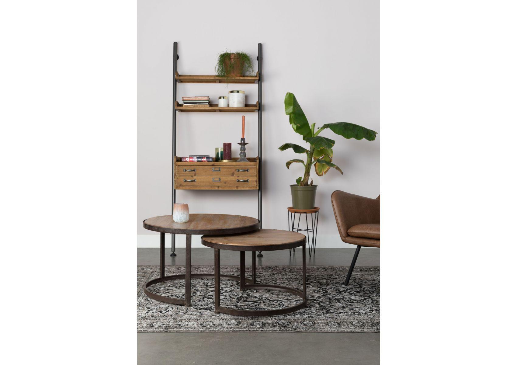 Table basse ronde gigogne metal Table basse ronde bois et metal
