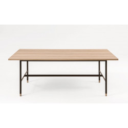 Table à manger 200 cm en bois Jugend et pied noir - Woodman