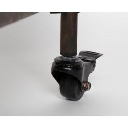 Étagère en métal vieilli sur roulettes RYAN - Boite à design