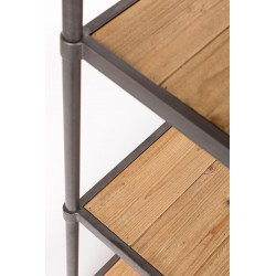 Étagère en bois et métal sur roulette SIMON - Boite à design