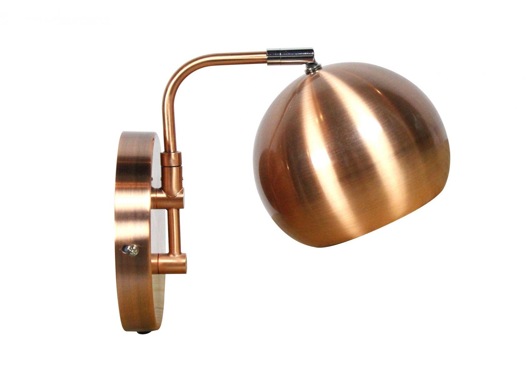applique murale en métal de couleur cuivre orbit de chez redcartel