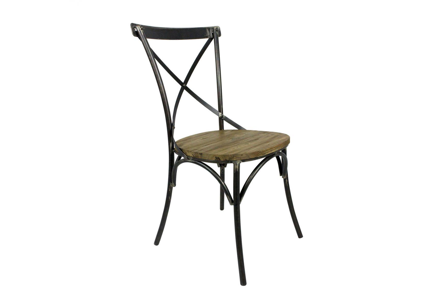 lot de 2 chaises bistrot en m tal et bois bristol de chez redcartel. Black Bedroom Furniture Sets. Home Design Ideas