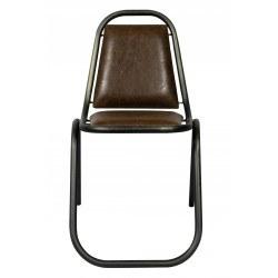 Chaise industrielle métal et simili cuir KRAVITZ RedCartel - Lot de 2