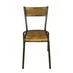 Chaise d'école vintage bois et métal PILOT RedCartel