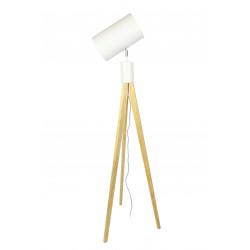 Lampadaire orientable bois et blanc CENTURY RedCartel