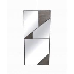 Miroir rectangulaire avec formes géométriques Boreal - RedCartel