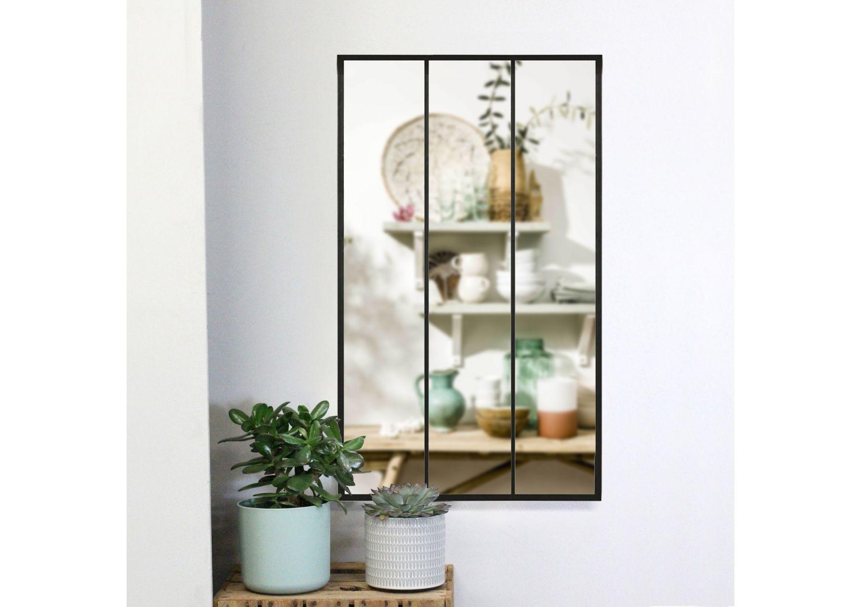 miroir industriel verri re eliott de chez redcartel. Black Bedroom Furniture Sets. Home Design Ideas
