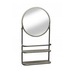 Miroir industriel avec étagères Melchior - RedCartel