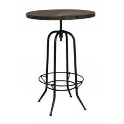 Table de bar industrielle en métal et bois CASSIDY - RedCartel