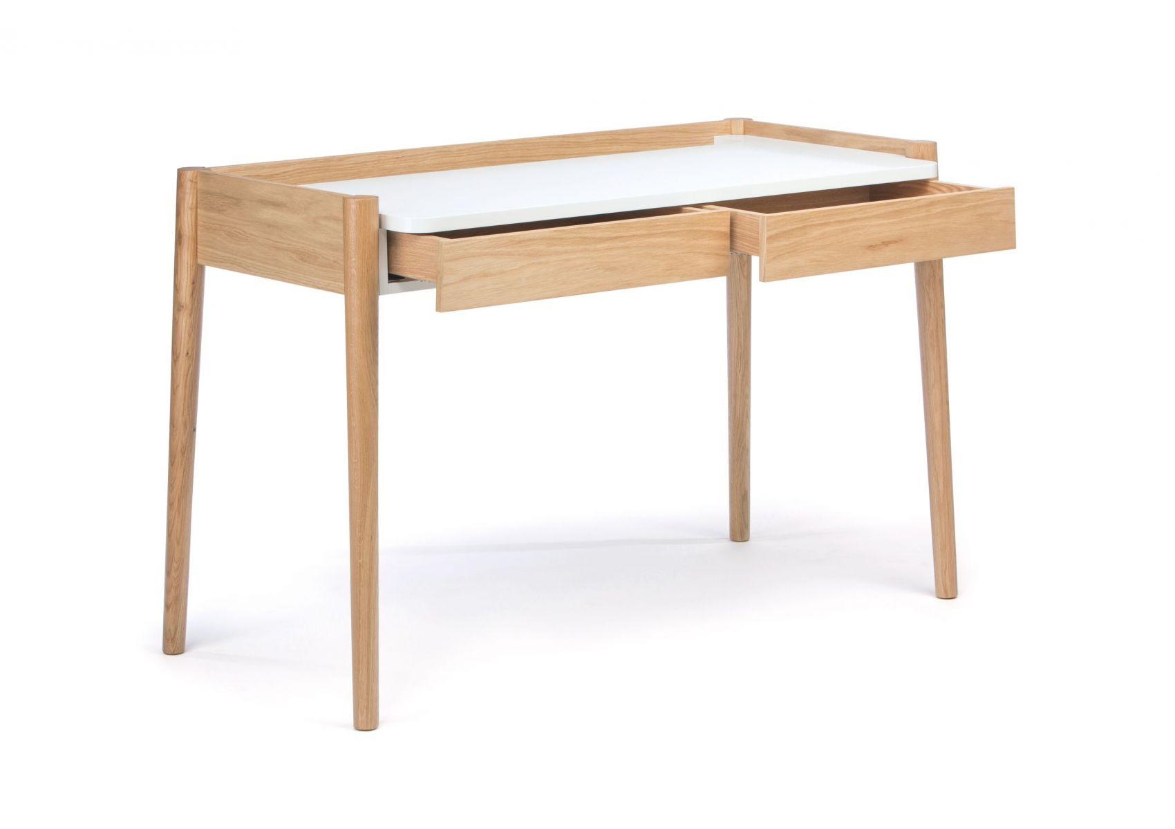 Bureau en bois blanc scandinave feldbach de chez woodman