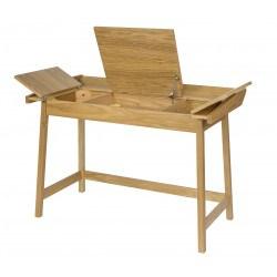 Bureau à rabats en bois avec rangements Baron - Woodman