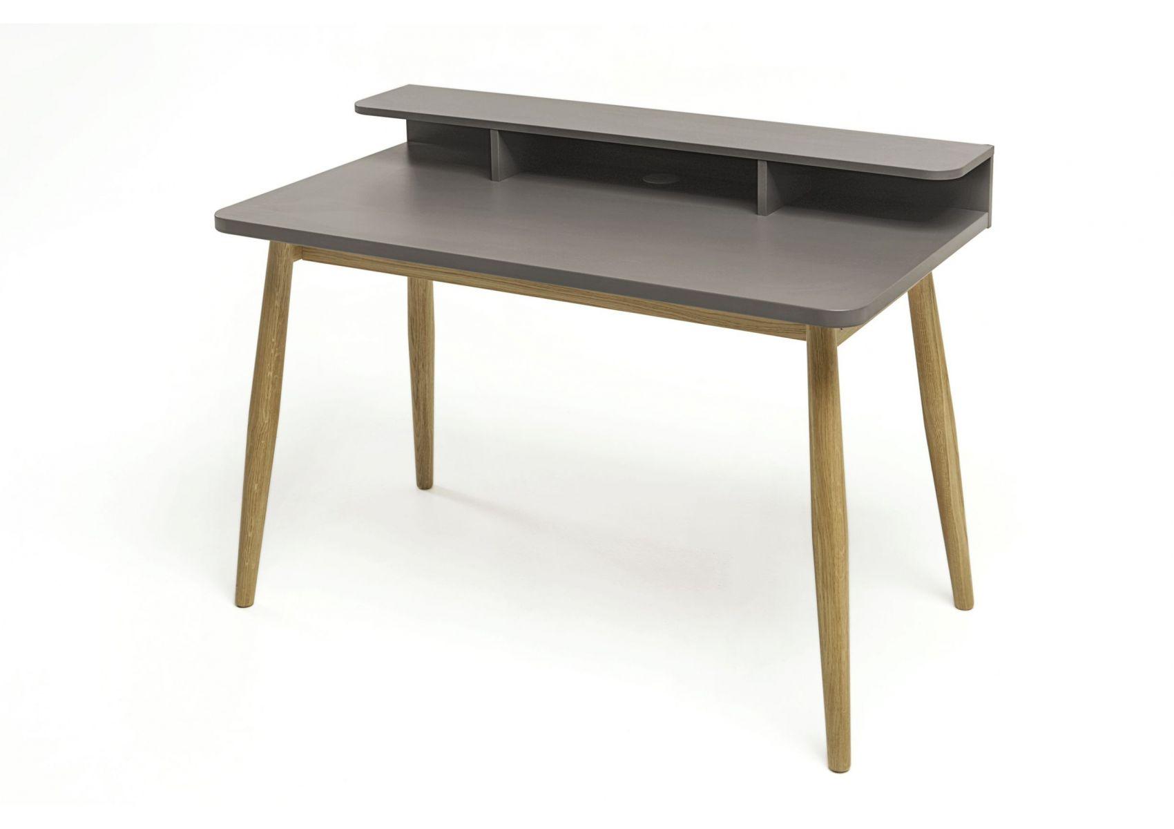 bureau scandinave en bois de couleur gris farsta de chez woodman. Black Bedroom Furniture Sets. Home Design Ideas