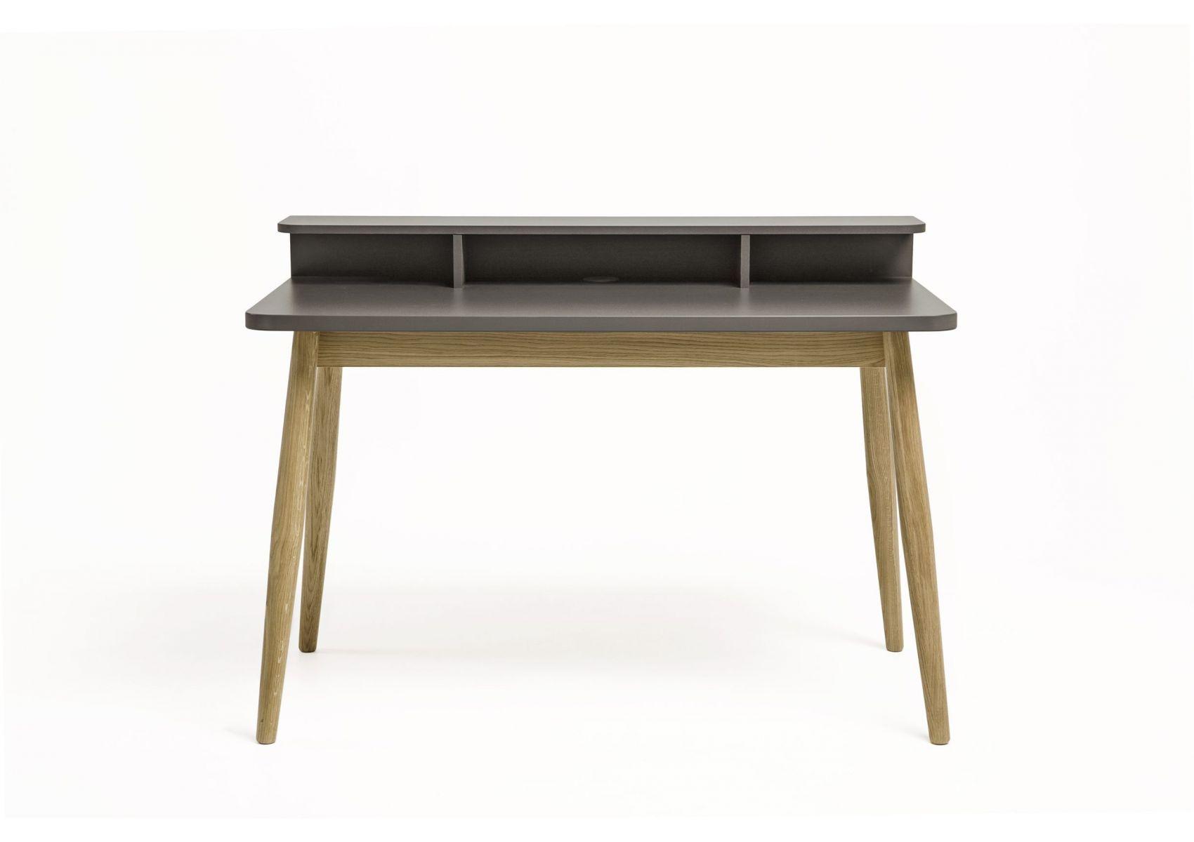 Bureau scandinave en bois de couleur gris farsta de chez woodman