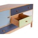 Commode en bois de chêne scandinave avec tiroirs et portes AbbeyWood - Woodman