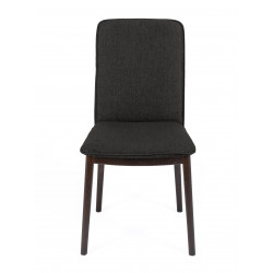 Chaise Adra avec pieds bois foncé