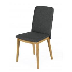 Chaise Adra grises avec pieds en chêne