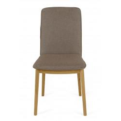 Lot de 2 chaises de salon en chêne couleur taupe Adra - Woodman